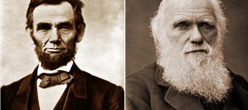 Abraham Lincoln e Charles Darwin