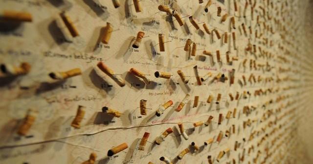 Mozziconi di sigarette nel Museo dell'Innocenza