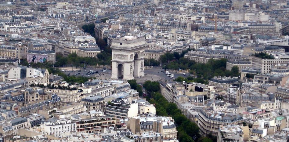 Parigi - Place de l'Etoile e Arco di trionfo