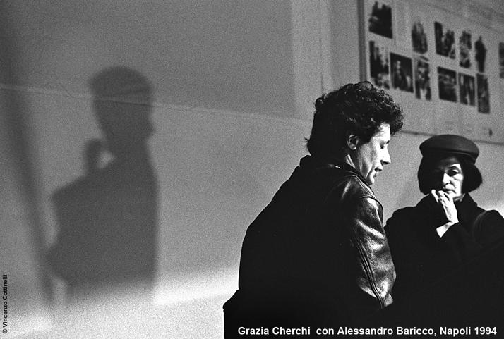 Grazia Cherchi con Alessandro Baricco