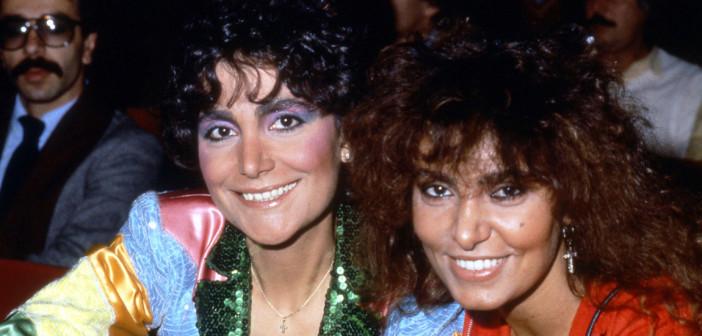 Mia Martini con la sorella Loredana Bertè
