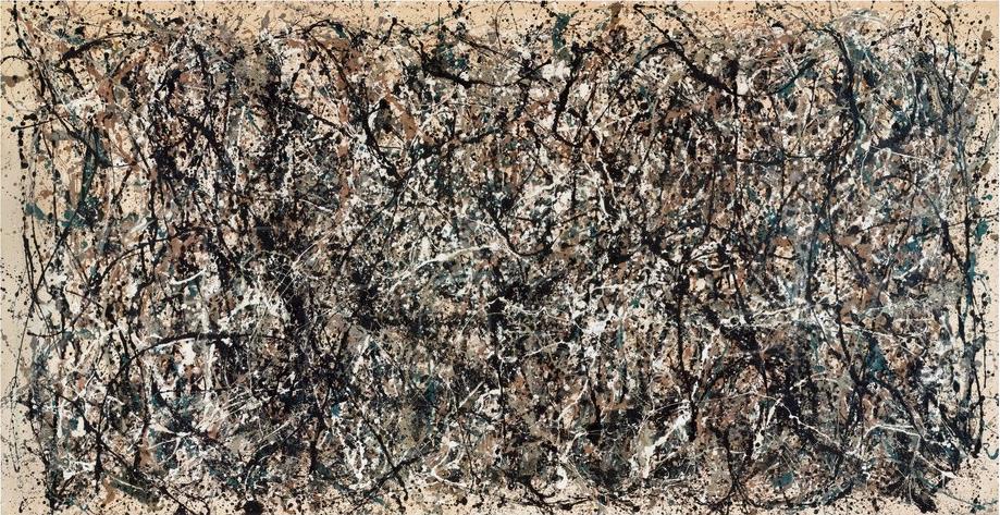 Un dipinto di Jackson Pollock