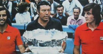 Panatta e Bertolucci alla consegna della Coppa Davis (1976)