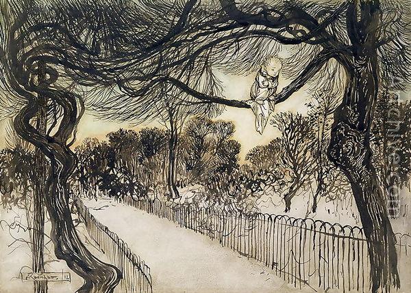 Arthur Rackham - Peter Pan nei giardini di Kensington