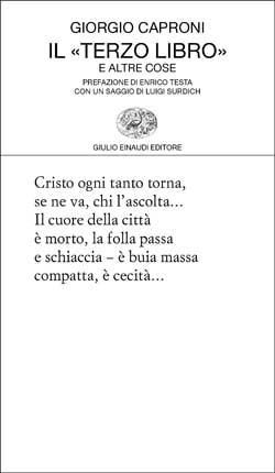 Giorgio Caproni - Il terzo libro