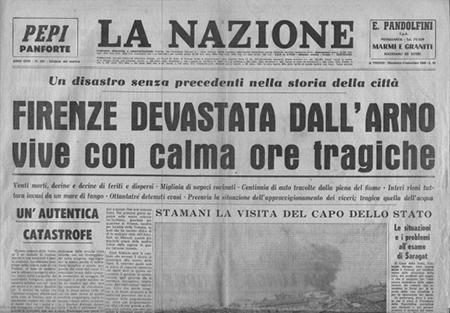 La Nazione - alluvione di Firenze