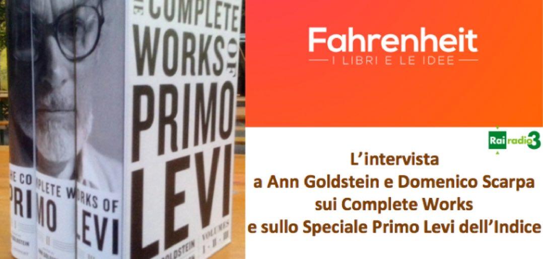 Primo Levi, rai radio 3