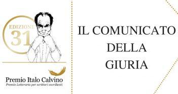 Premio Italo Calvino - Comunicato della Giuria alla XXXI edizione
