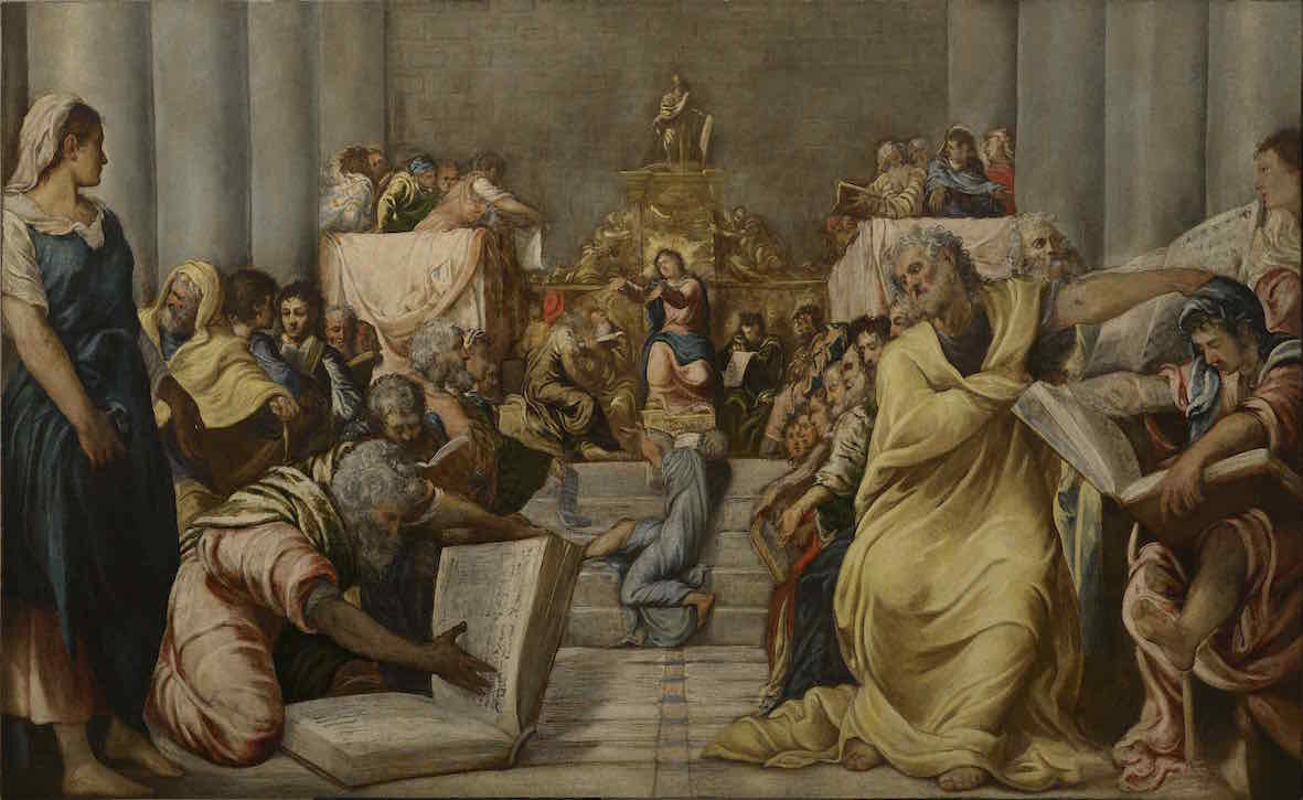 Tintoretto, Cristo tra i dottori_0